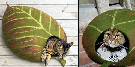 Leaf Cat Bed