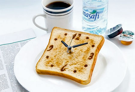Toasted Bread Clock