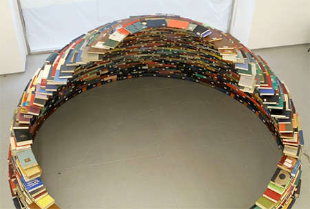 Igloo Made out of Books