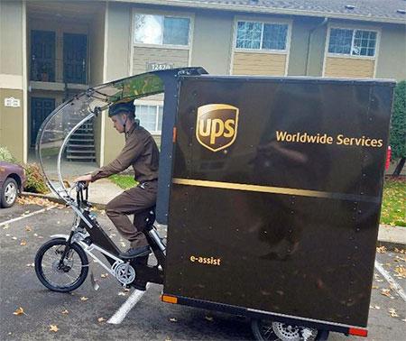 UPS Shipping Bicycle