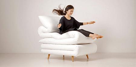 Folded Blanket Chair