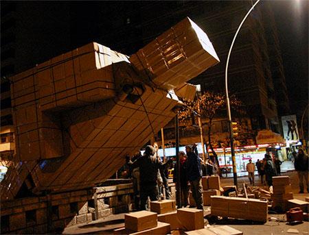 Recycled Cardboard Box Man