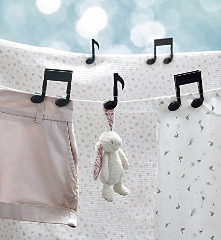 Music Notes Clothes Pin