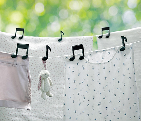 Music Note Clothes Pin