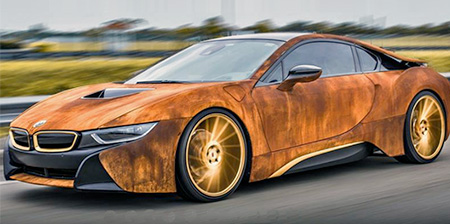 Rust Covered BMW