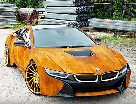 Rust Wrapped BMW