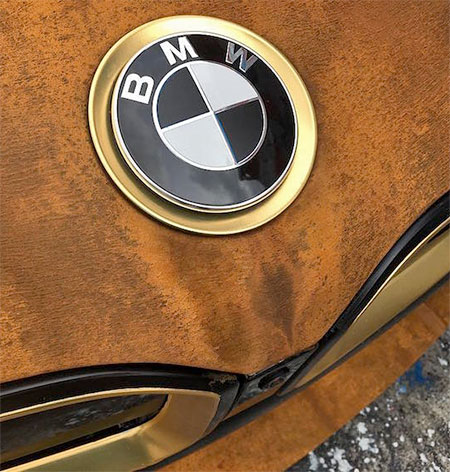 Rust Wrapped BMW i8