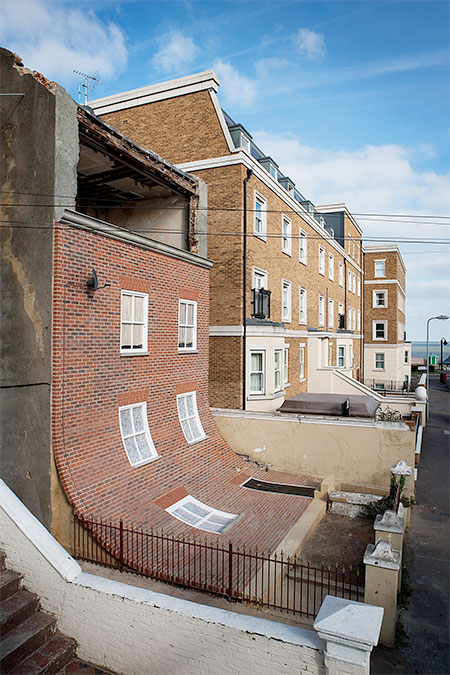 Alex Chinneck Sliding Building