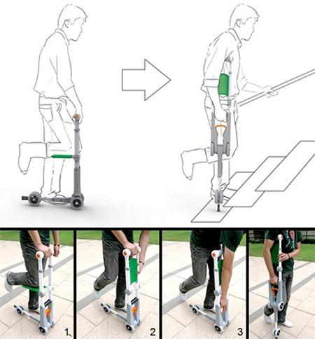 Crutch Knee Scooter