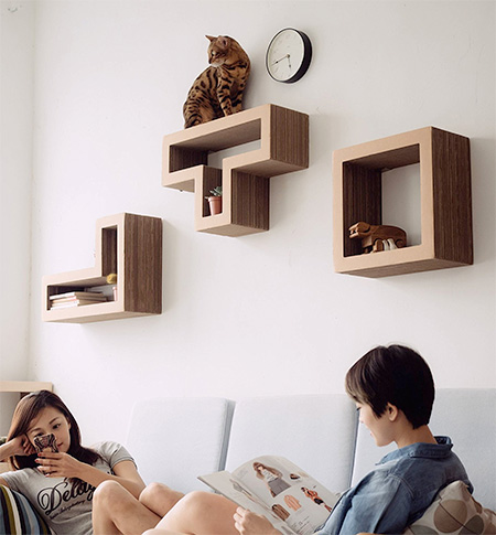 Tetris Cat Shelves