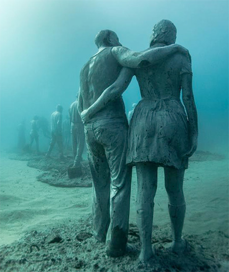 Jason deCaires Taylor Underwater Sculptures