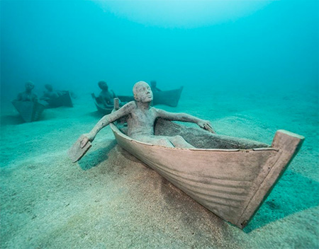 Jason deCaires Taylor Underwater Sculpture