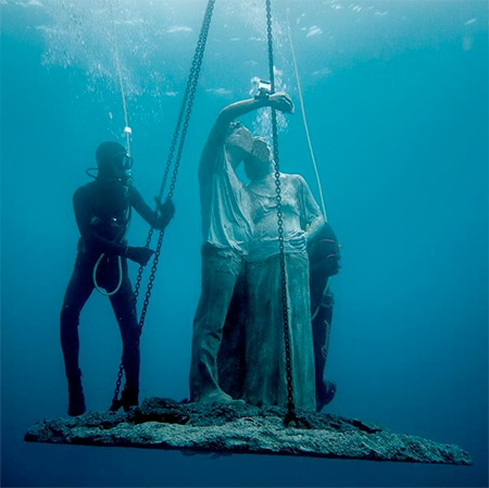 Jason deCaires Taylor Underwater Museum