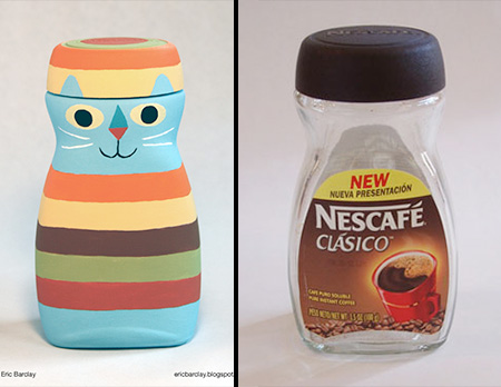Nescafe Coffee Bottle Art