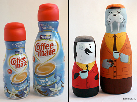 Eric Barclay Recycled Packaging Art