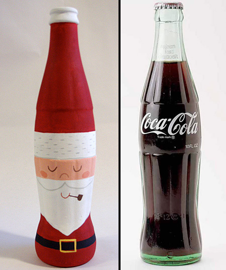 Coca-Cola Santa Bottle