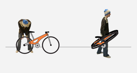 Folding Bicycle Wheel