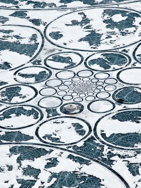 Jim Denevan Frozen Lake Circle