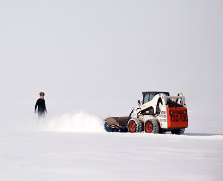 Jim Denevan Frozen Lake Drawings