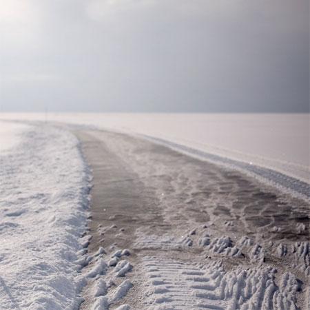 Jim Denevan Frozen Lake Drawing