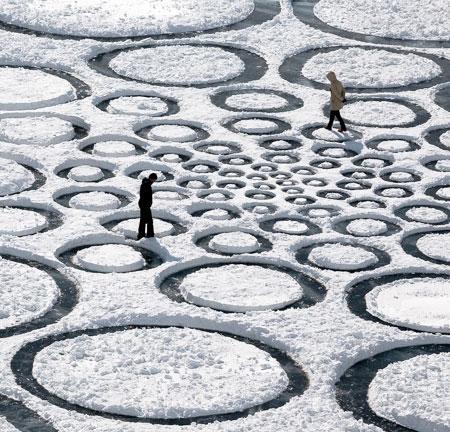 Jim Denevan Frozen Lake Art