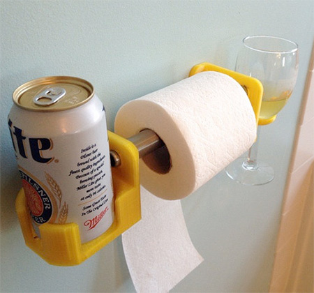 Beer and Wine Toilet Paper Holder