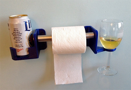 Beer and Wine Toilet Holder