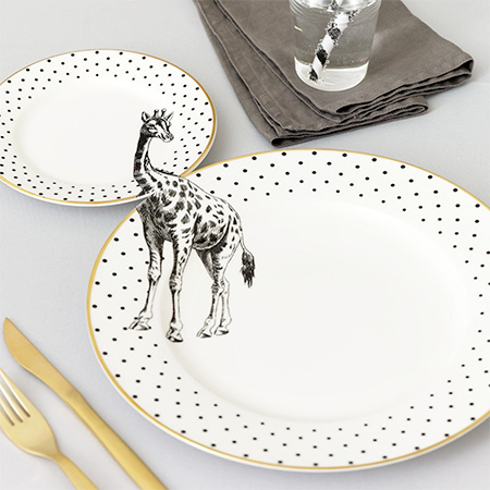 Animal Plates by Yvonne Ellen