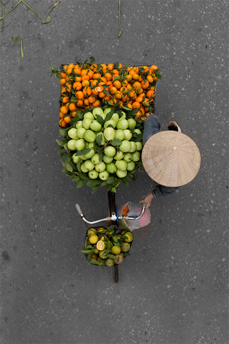 Bicycle Vendors from Above