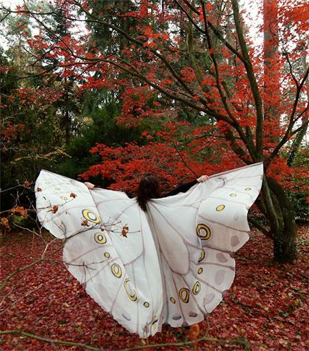 Dorota Drzewiecka Butterfly Wing Scarves
