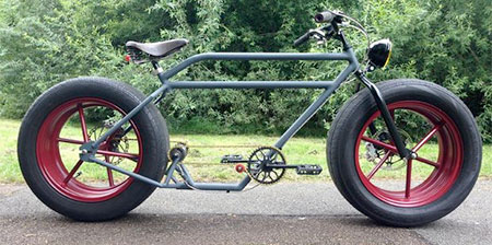 Bicycle with Car Tires