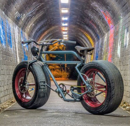 Bike with Car Tires