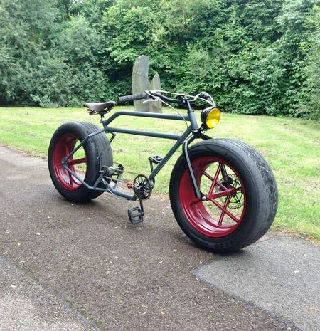 Bike with Car Tyres