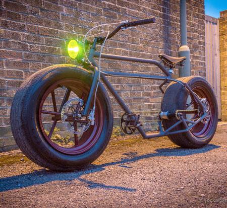 Bike on Car Tyres