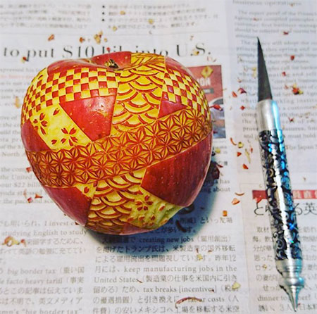 Gaku Fruit and Vegetable Carvings