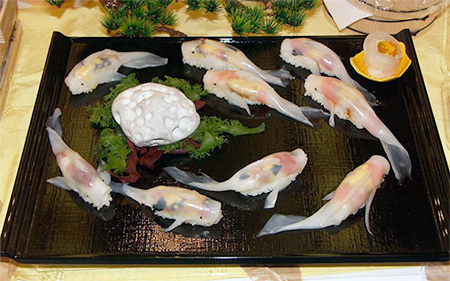 Japanese Koi Fish Sushi