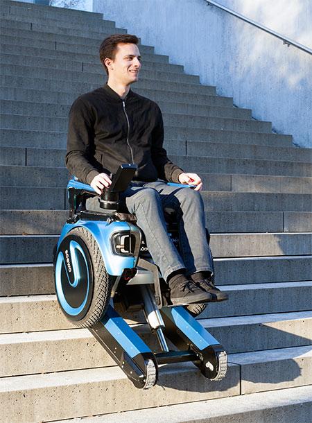 Wheelchair Climbs Stairs