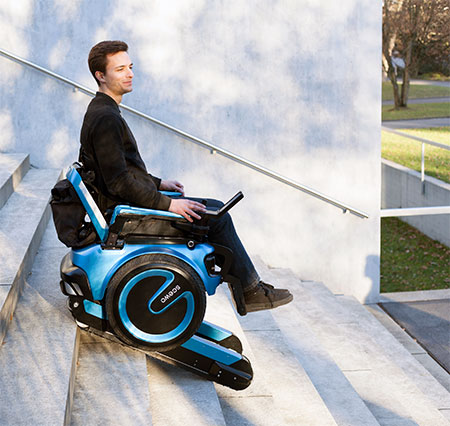 Wheelchair Rides on Stairs