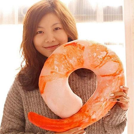 Realistic Shrimp Neck Pillow