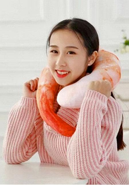 Realistic Shrimp Pillow