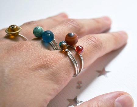 Solar System Ring Set