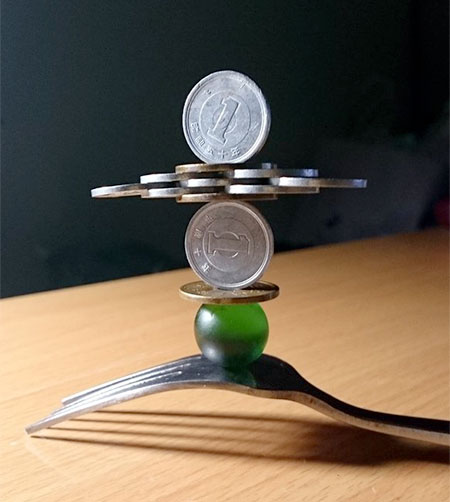 Japanese Stacked Coin
