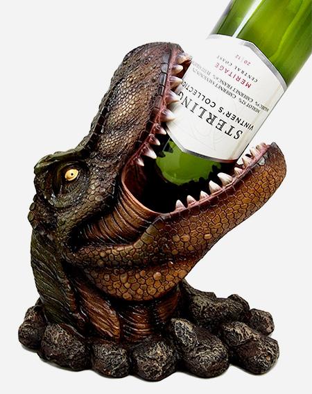 T-Rex Head Wine Bottle Holder