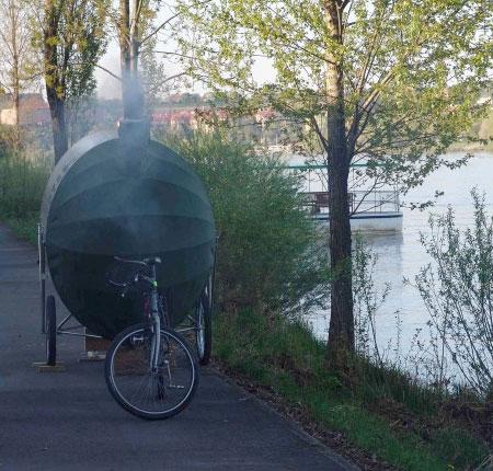 H3T architekti Bike Sauna
