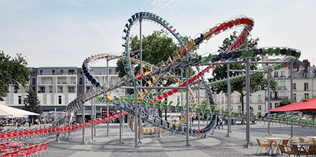 Roller Coaster Made of Chairs