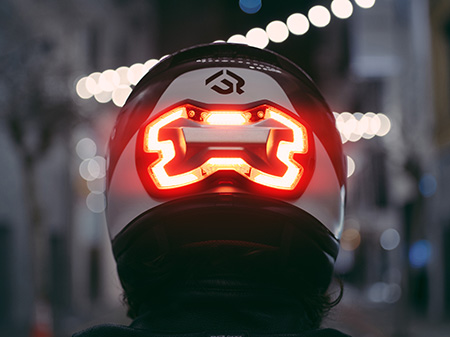 Motorcycle Helmet Brake Light