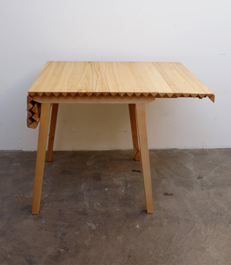 Nathalie Dackelid Rollable Wooden Table