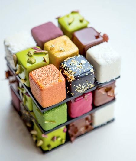 Rubiks Cube Cake