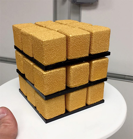 Rubiks Shaped Cube Cake