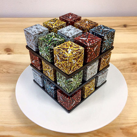 Rubiks Shaped Cube Cakes